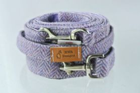 Lavender Harris Tweed Dog Leash